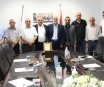 A group of Businessmen from Bethlehem Eastern urbans visit Bethlehem chamber of commerce to honor its work in serving the local community