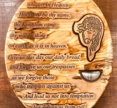 Our Father Prayer Oval Plaque