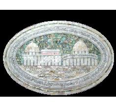لوحة المسجد الاقصى و قبة الصخرة