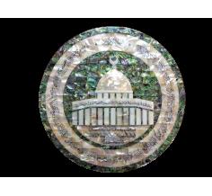 لوحة  قبة الصخرة دائري