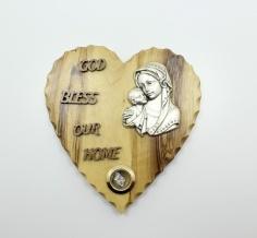 Heart Shape-God Bless Our Home