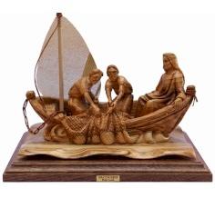 مجسم يسوع على القارب -حجم كبير