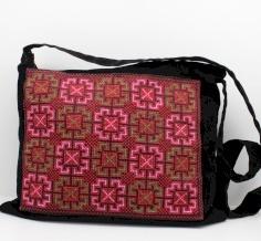 Embroidered velvet bag