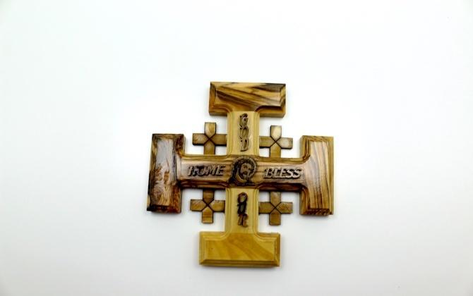 صليب القدس خشب زيتون