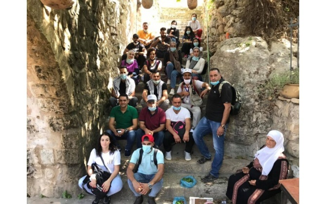 BCCI economical youth council organizes an activity to Battir
