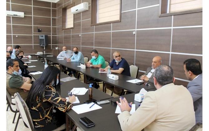 اللجنة الصناعية في غرفة تجارة وصناعة محافظة بيت لحم تعقد اجتماعها الدوري