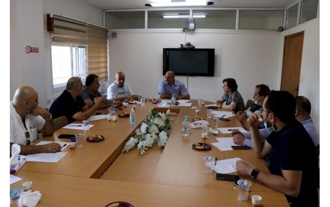 اللجنة الصناعية في غرفة تجارة وصناعة محافظة بيت لحم تناقش قضايا تَهُم القطاع الصناعي